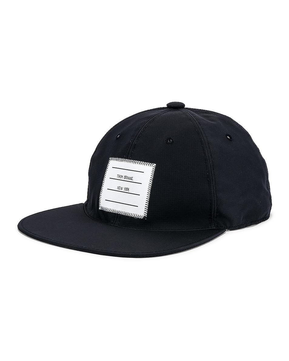 Image 2 of Thom Browne Logo Baseball Cap in Navy