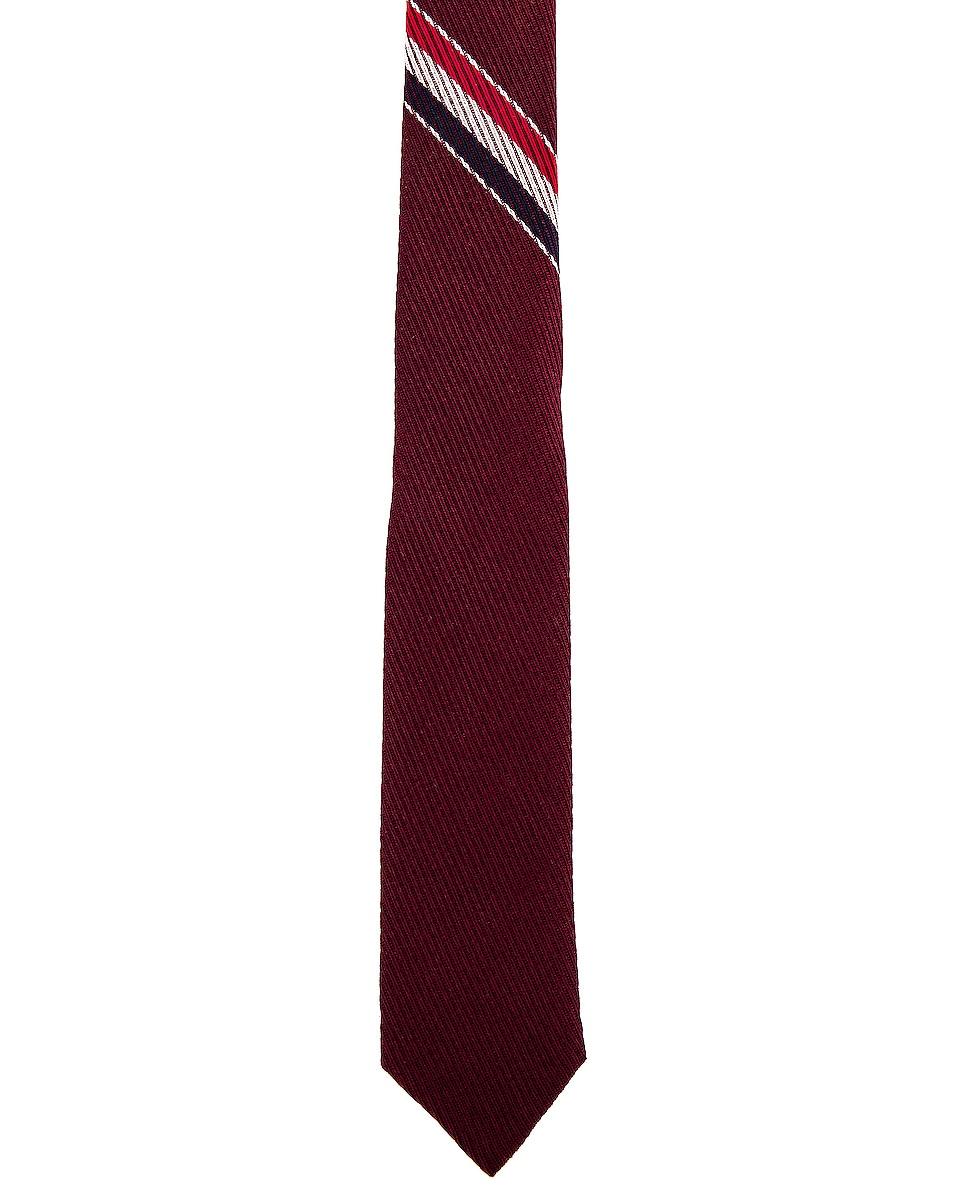 Image 1 of Thom Browne Classic School Uniform Necktie in Burgundy
