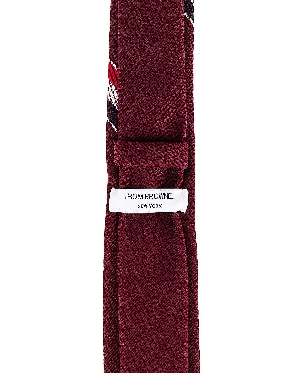 Image 3 of Thom Browne Classic School Uniform Necktie in Burgundy
