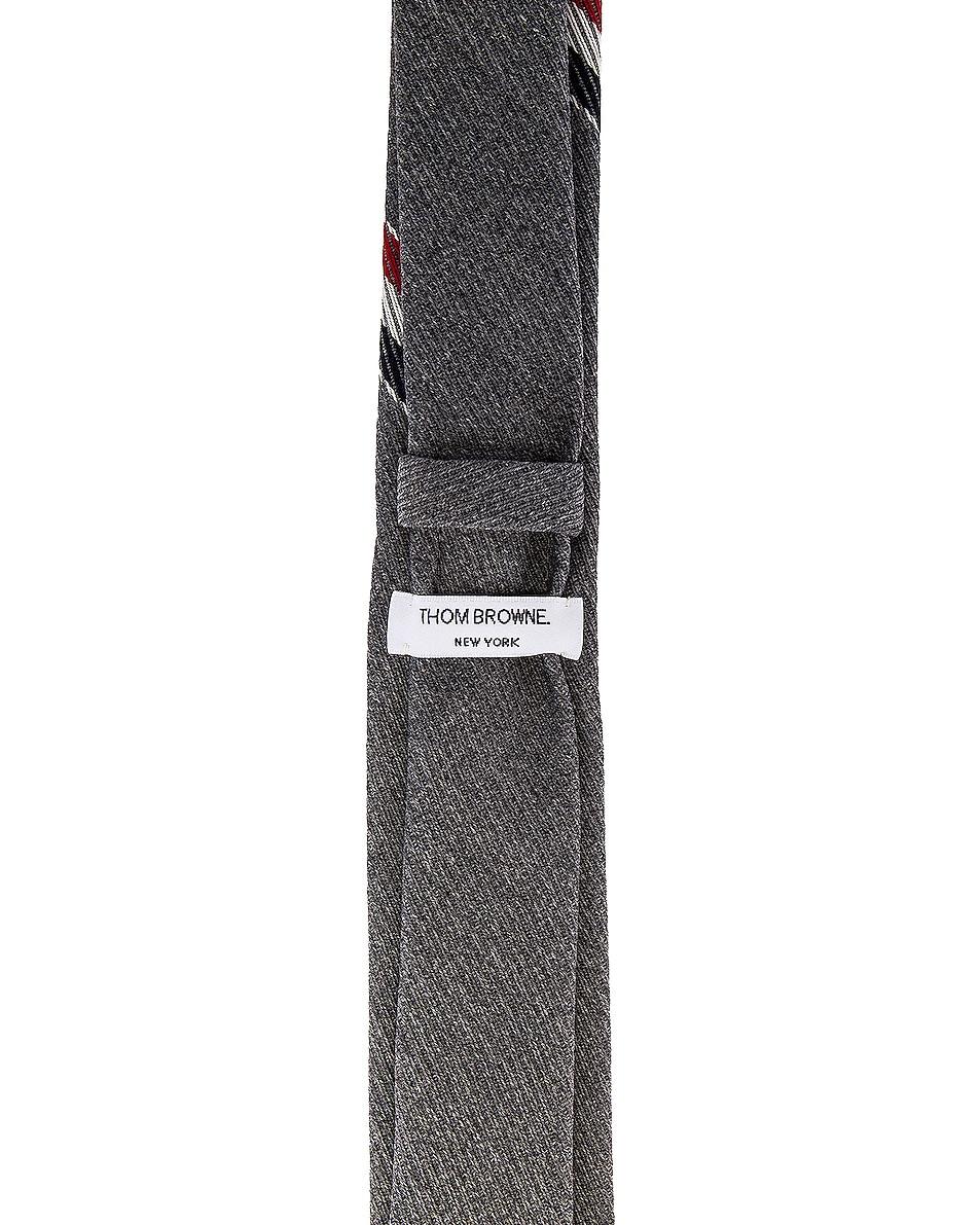 Image 3 of Thom Browne Classic School Uniform Necktie in Medium Grey