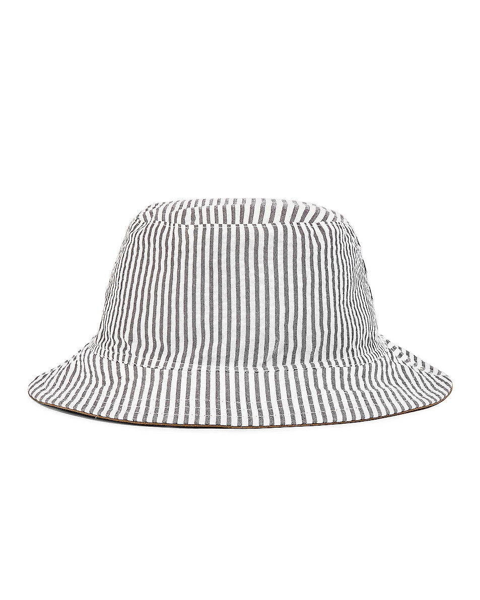 Image 2 of Thom Browne Reversible Classic Bucket Hat in Khaki & Navy