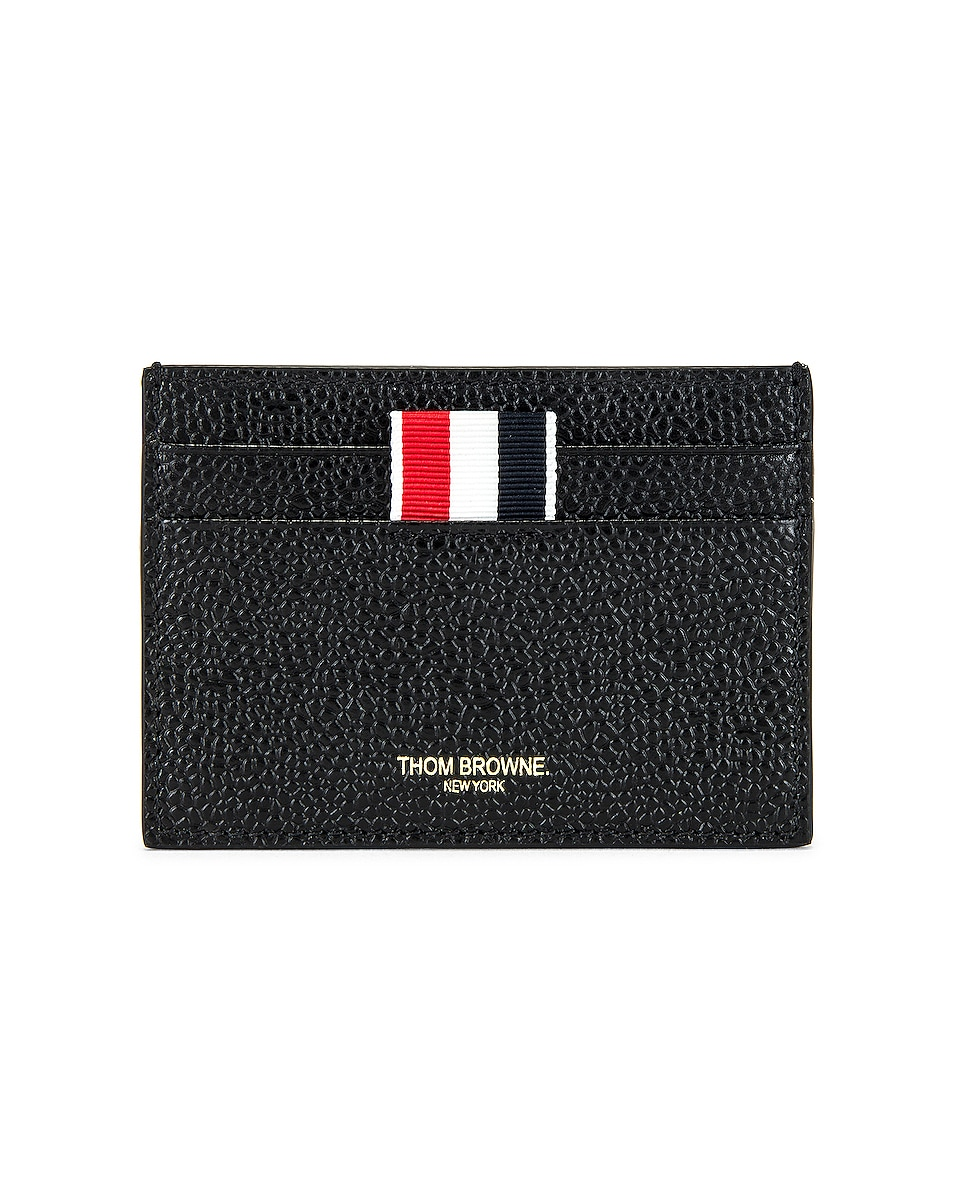 Image 1 of Thom Browne Double Sided Cardholder in Black