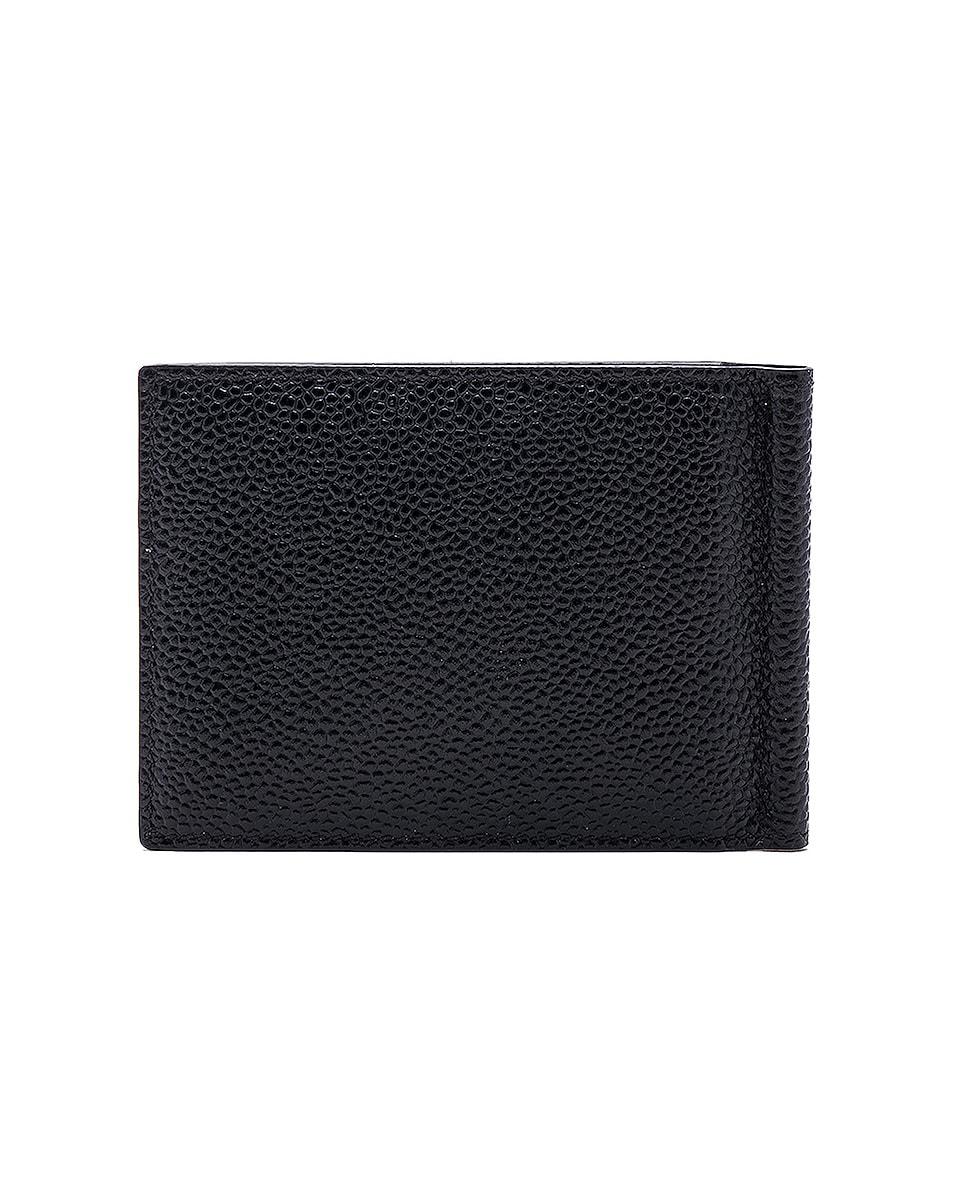 Image 2 of Thom Browne Pebble Grain Money Clip Wallet in Black
