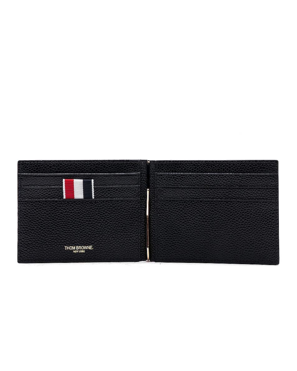 Image 4 of Thom Browne Pebble Grain Money Clip Wallet in Black
