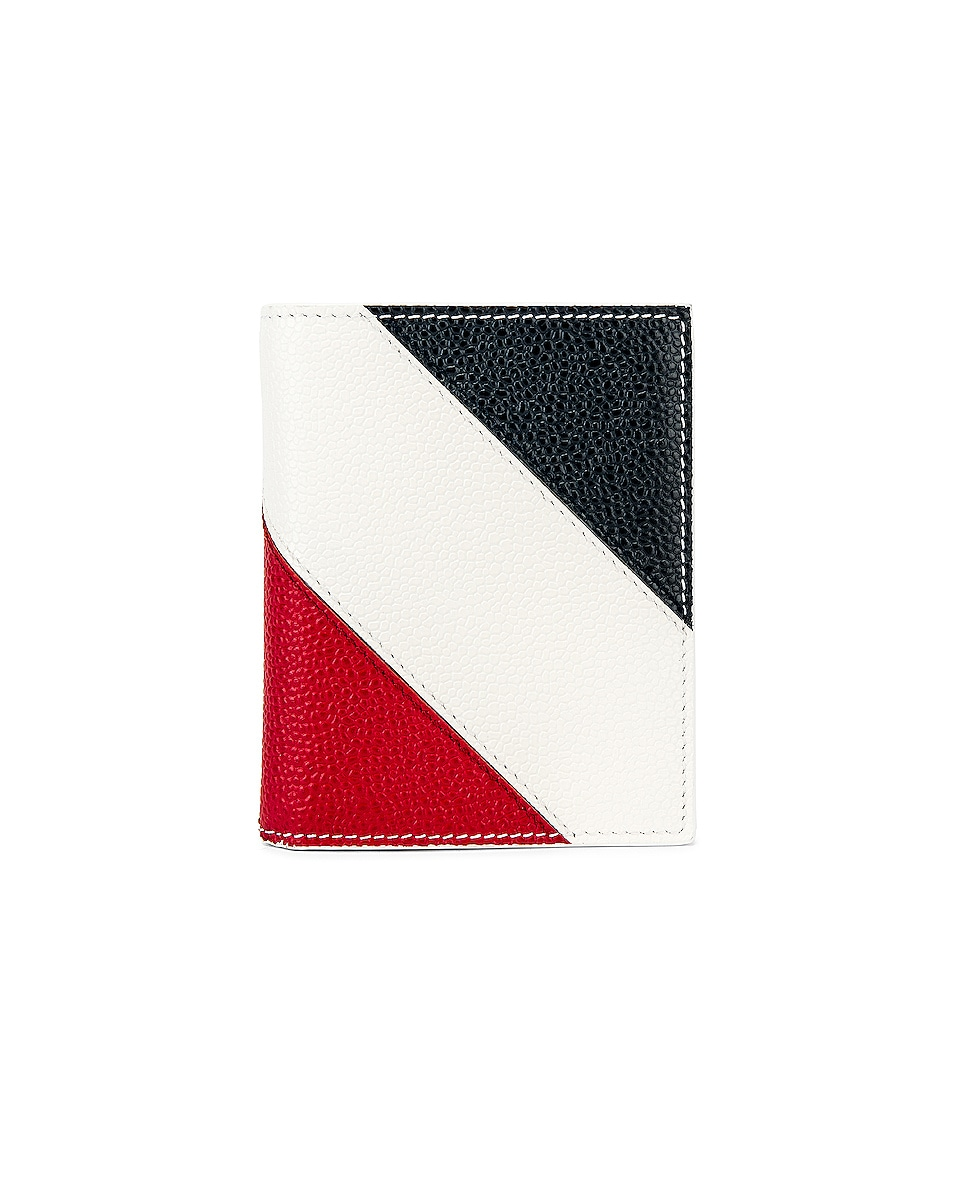 Image 1 of Thom Browne Billfold With Coin Compartment Wallet in White