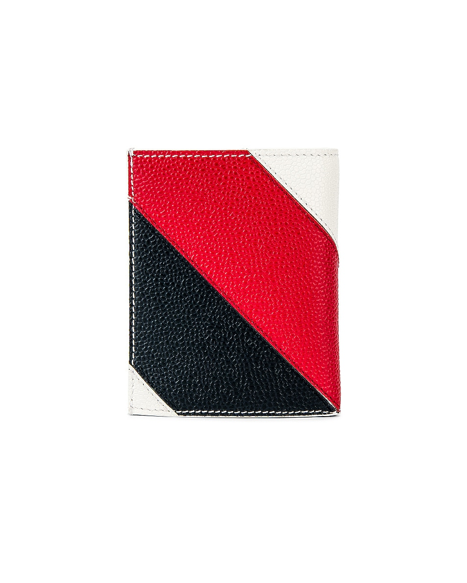 Thom Browne Billfold With Coin Compartment Wallet White 85%OFF