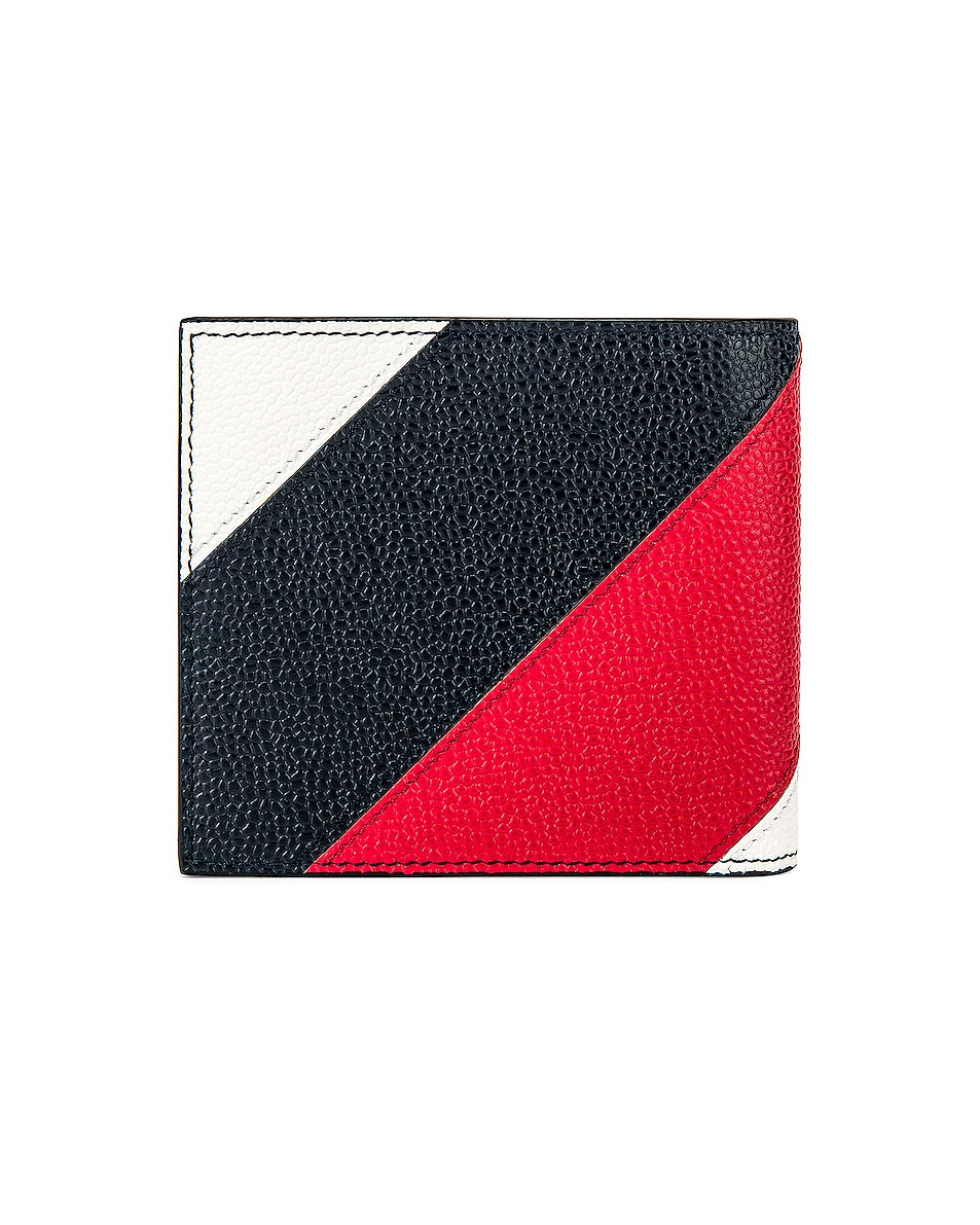 Thom Browne Billfold Wallet Navy 30%OFF