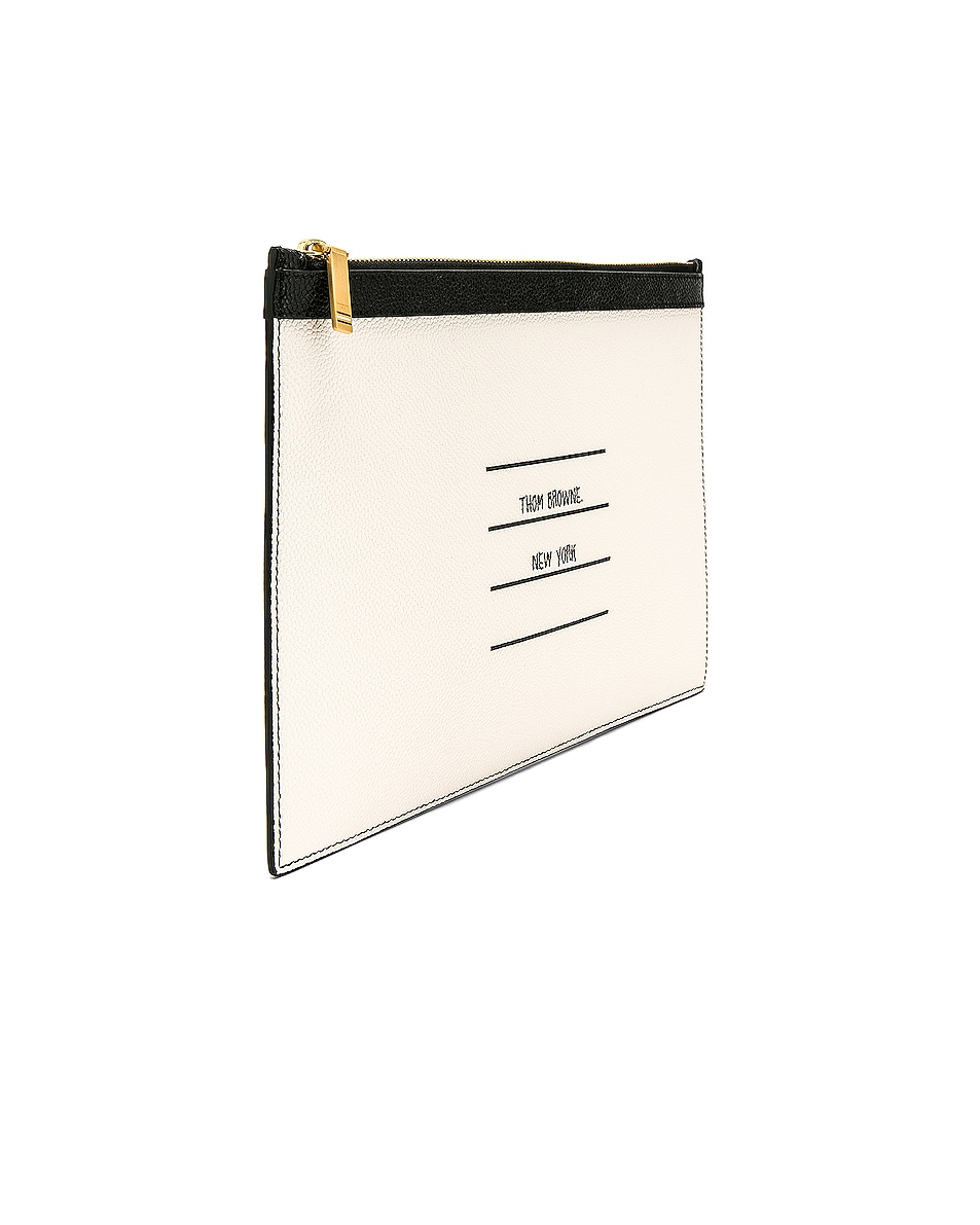 Image 3 of Thom Browne Small Zipper Tablet Pouch in Black