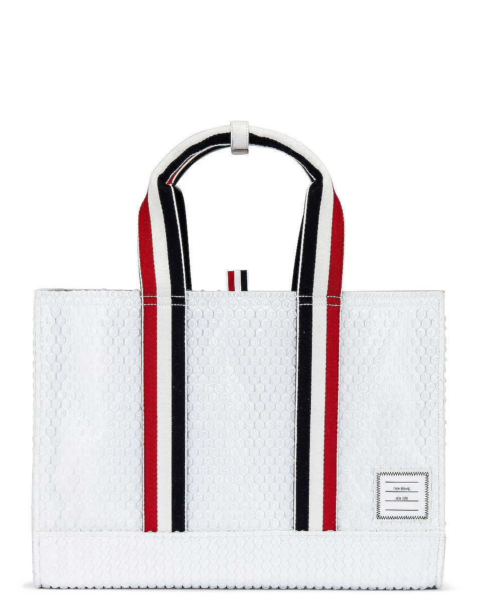 Image 1 of Thom Browne Tote Bag in White