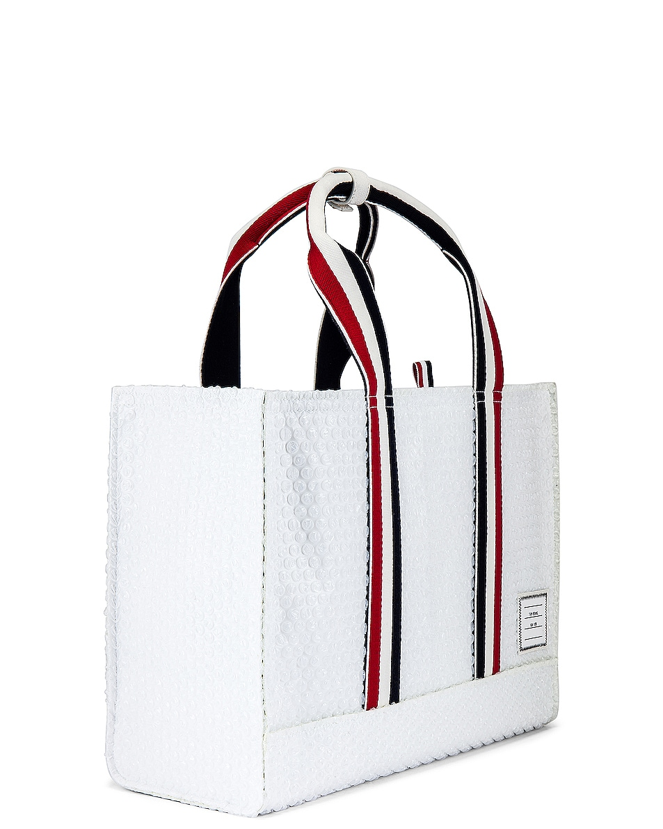 Image 3 of Thom Browne Tote Bag in White
