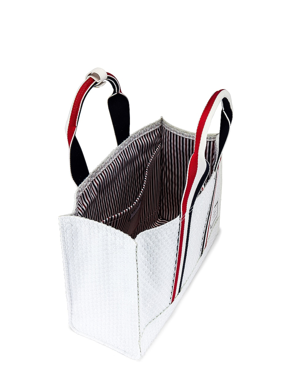 Image 4 of Thom Browne Tote Bag in White