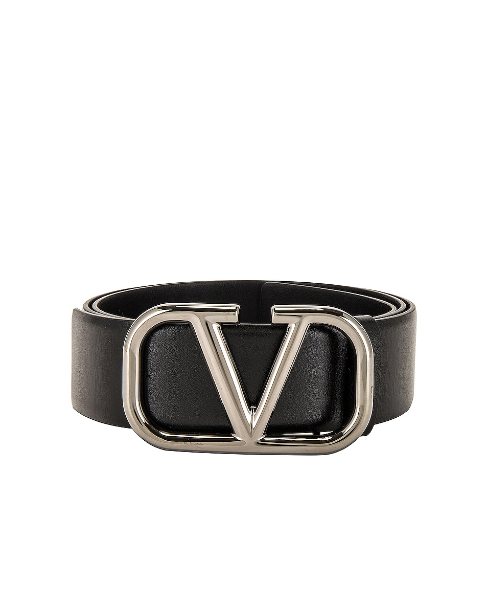 Image 1 of Valentino Garavani Valentino Garavani Buckle Belt in Black