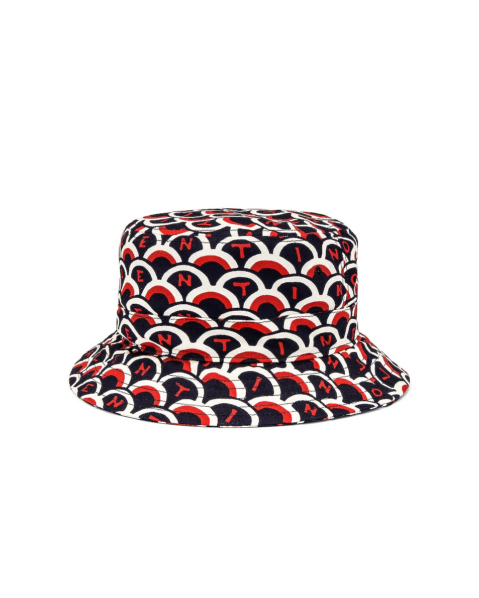 Image 2 of Valentino Printed Bucket Hat in Multi