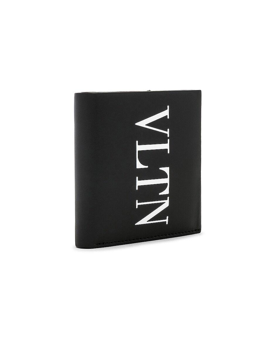 Image 3 of Valentino VLTN Billfold in Black & White