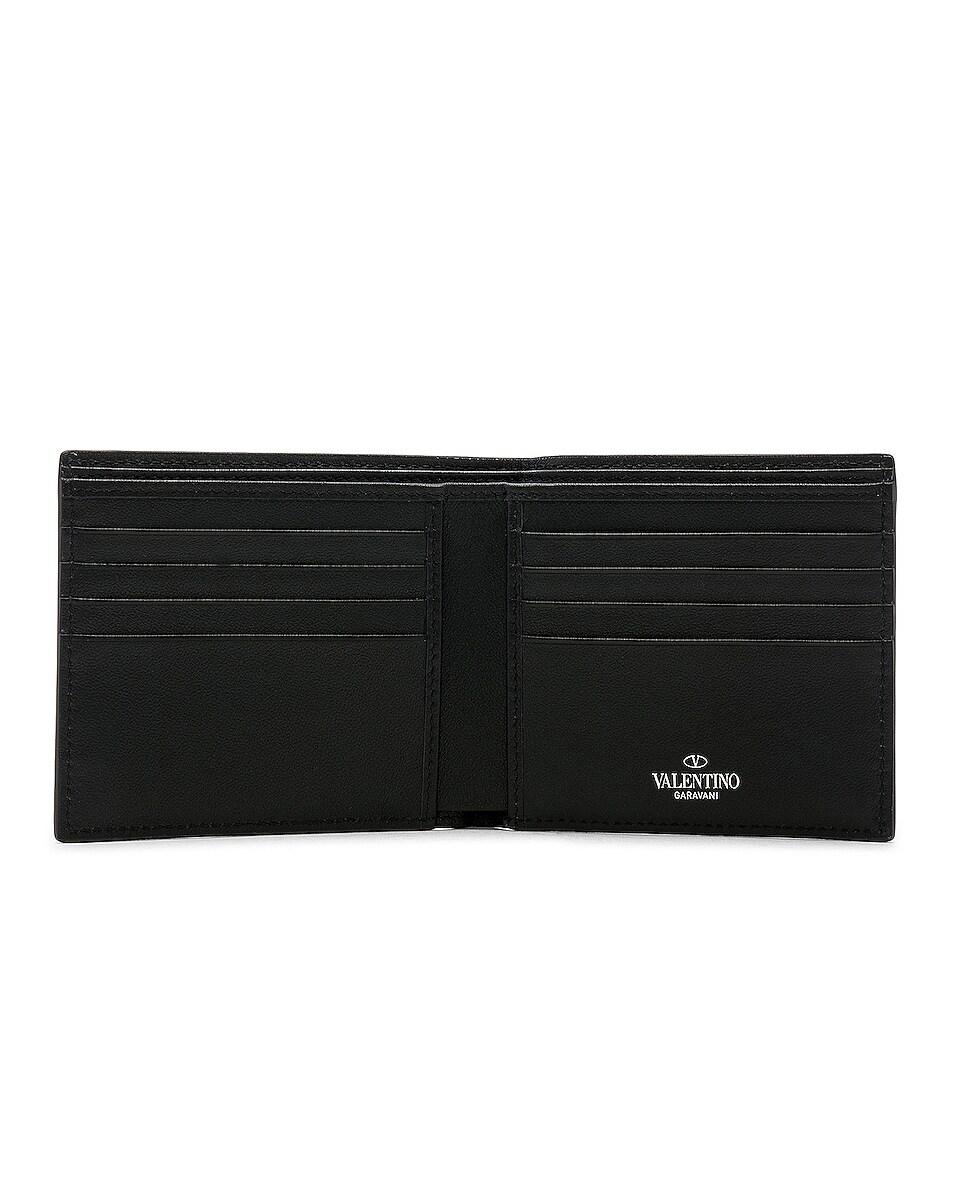 Image 4 of Valentino Billfold Wallet in Black