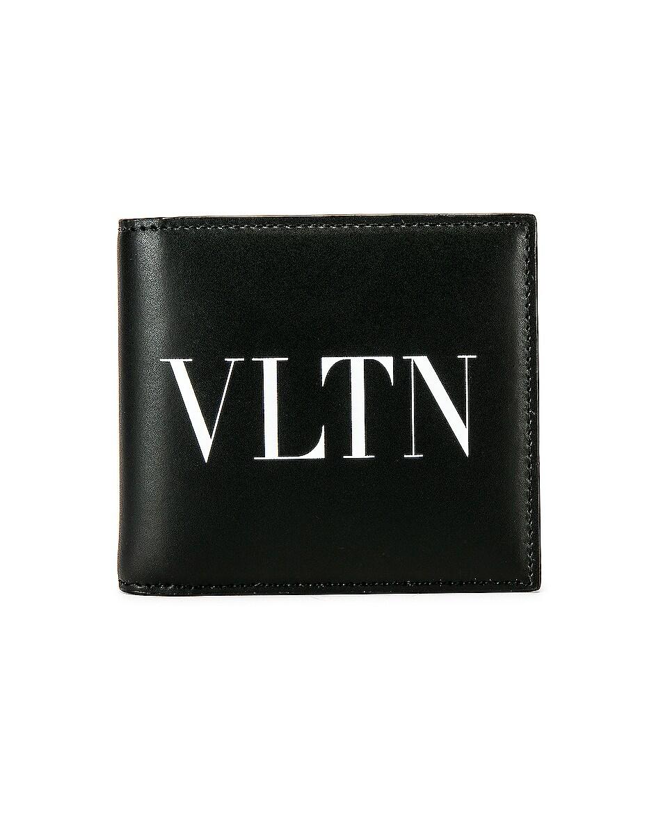Image 1 of Valentino Logo Wallet in Black & White
