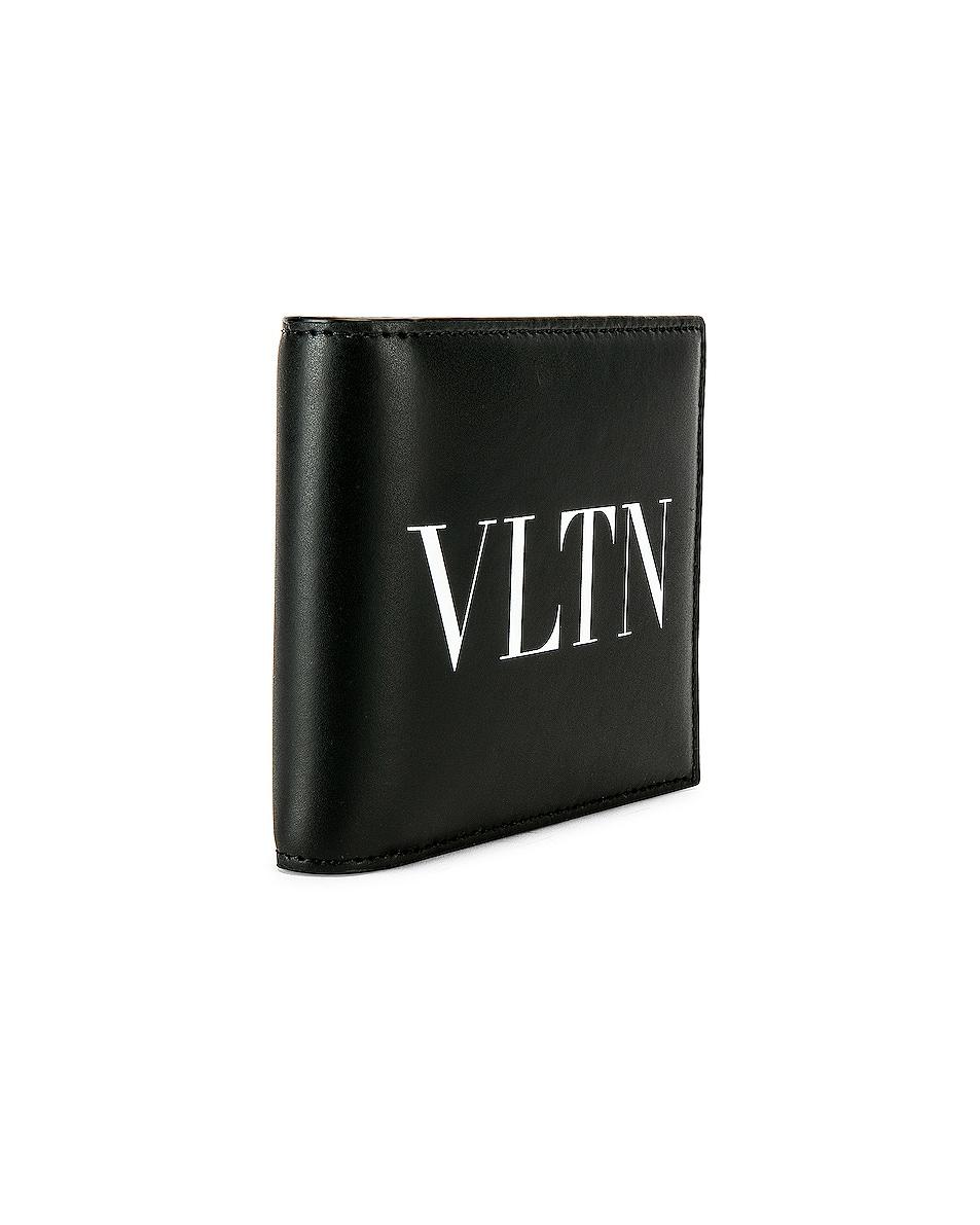 Image 3 of Valentino Logo Wallet in Black & White