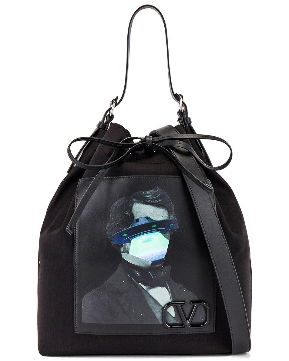 Image 1 of Valentino Bucket Bag in Black