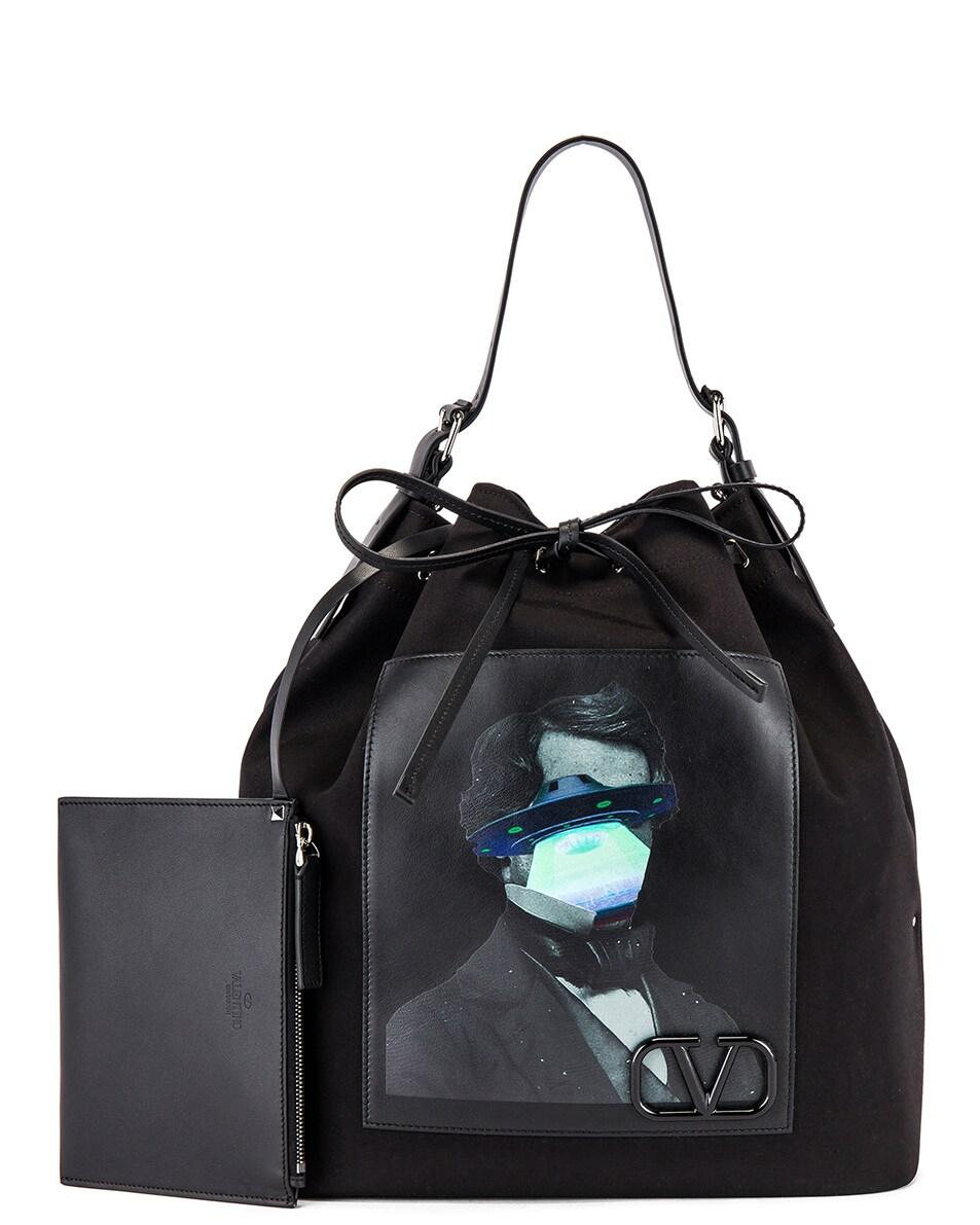 Image 4 of Valentino Bucket Bag in Black