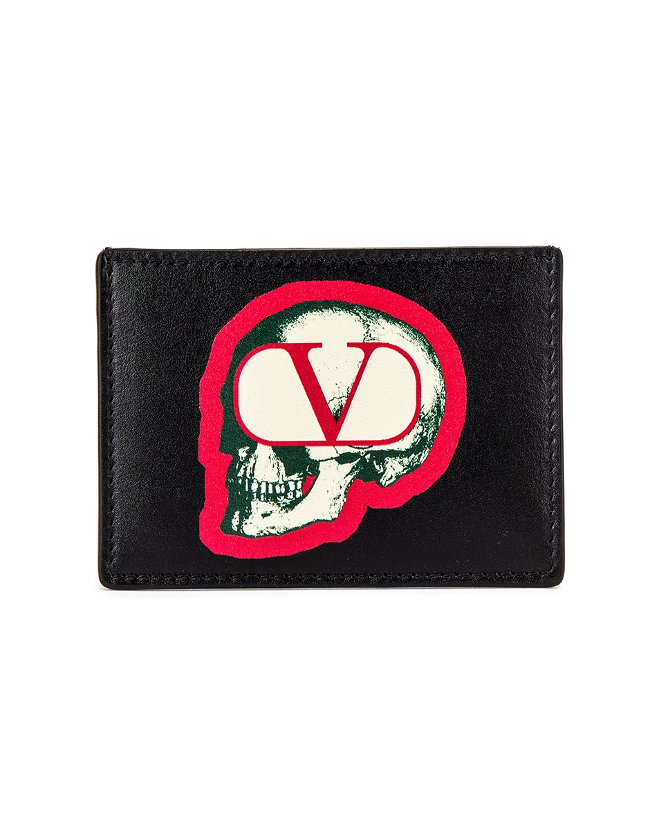 Image 1 of Valentino Card Holder in Black
