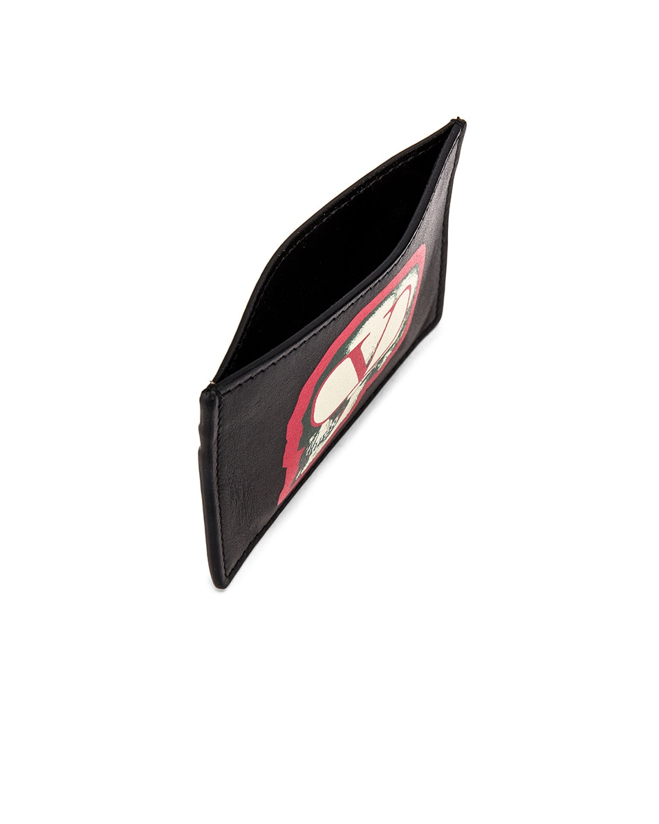 Image 4 of Valentino Card Holder in Black