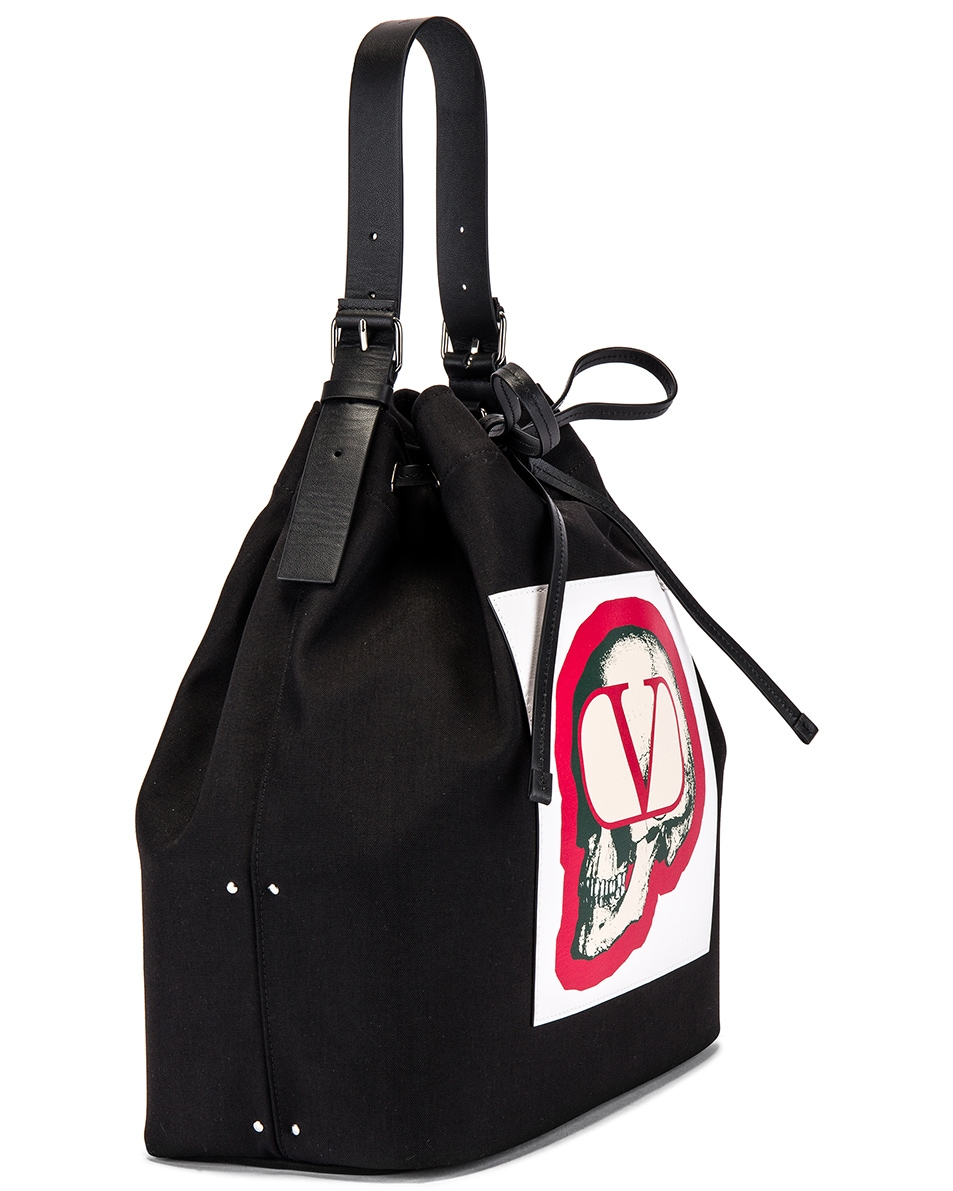 Image 3 of Valentino Bucket Bag in Black