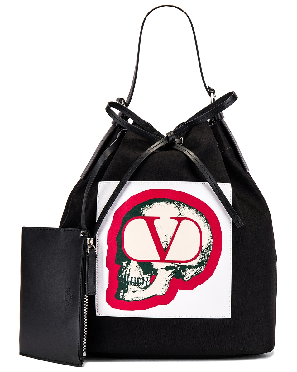 Image 4 of Valentino Bucket Bag in Black