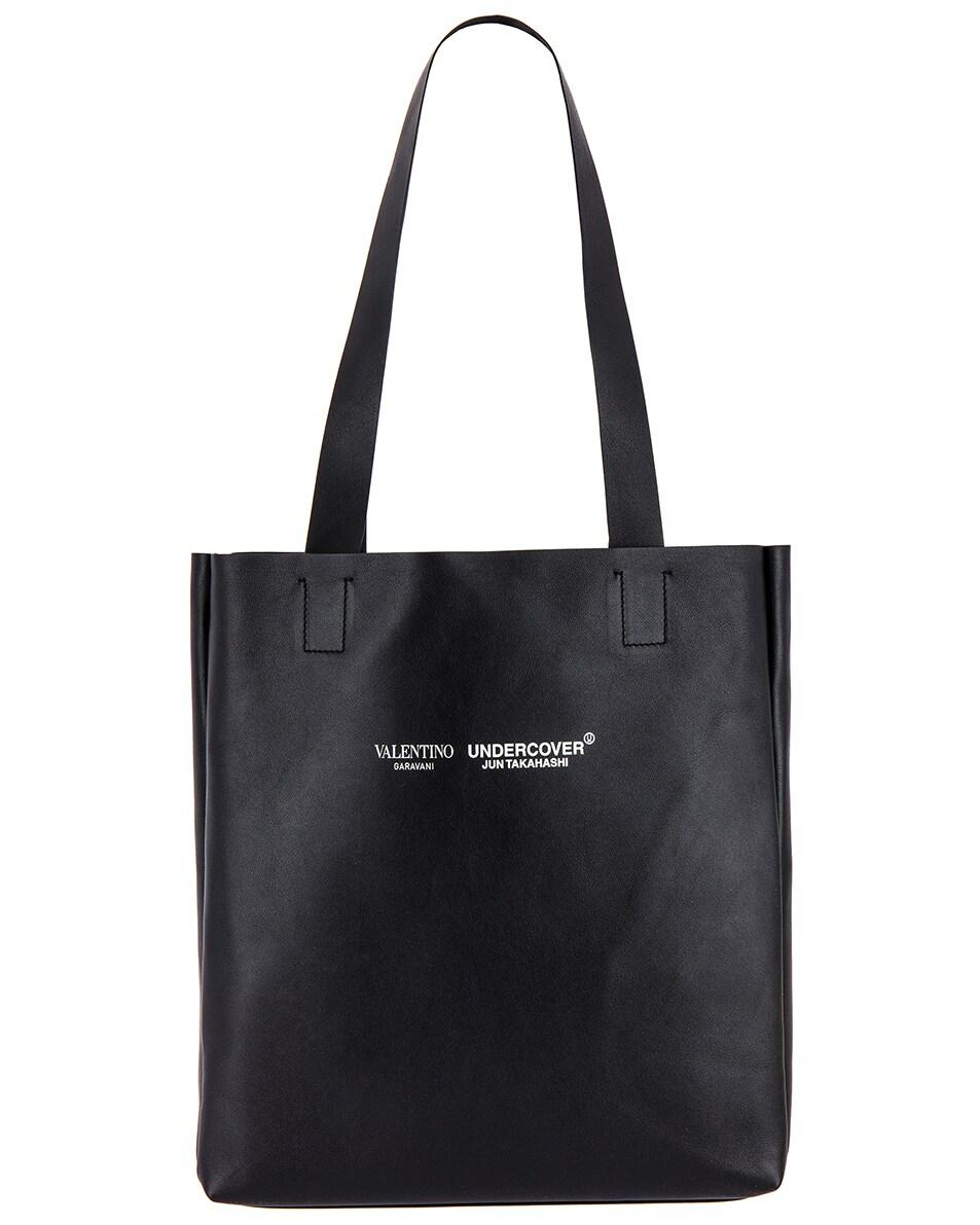 Image 2 of Valentino Skull Tote Bag in Black