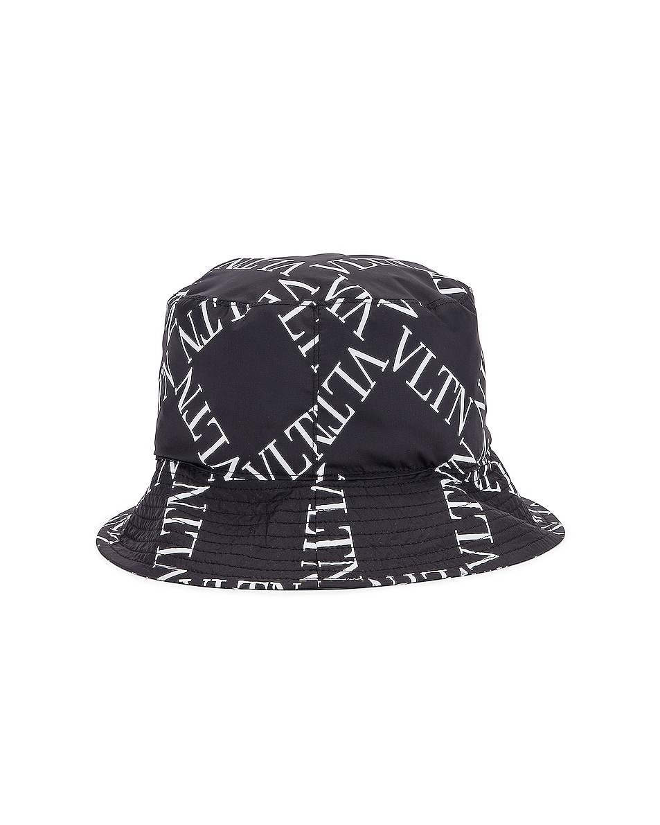 Image 3 of Valentino Print Bucket Hat in Black & White