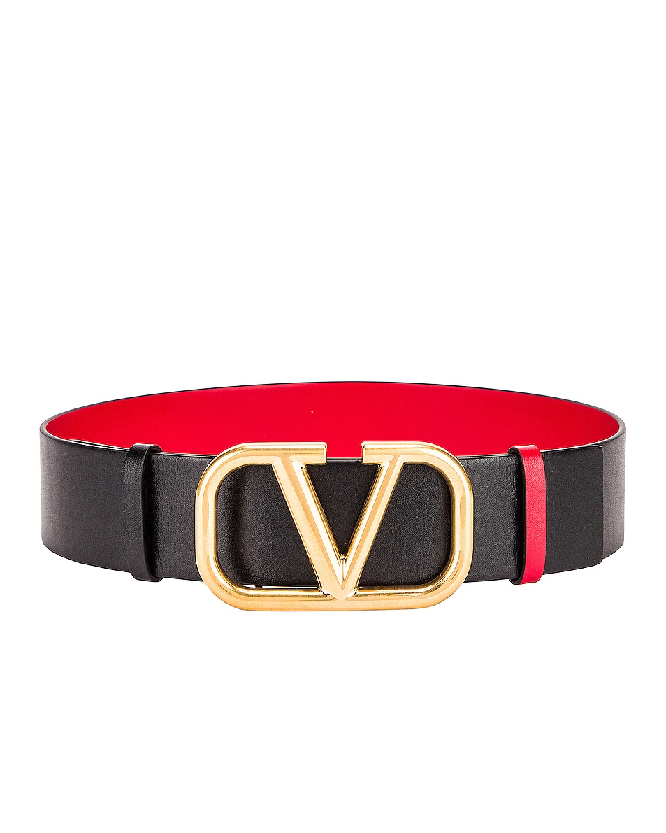 Image 1 of Valentino Garavani VLogo in Nero & Rouge Pur