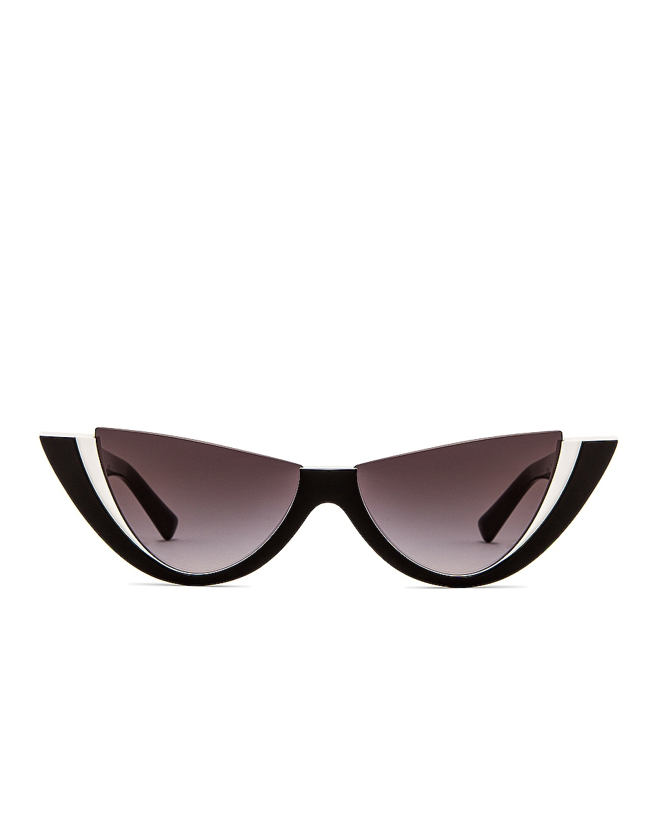 Image 1 of Valentino Garavani Cut Off Sunglasses in Black & White