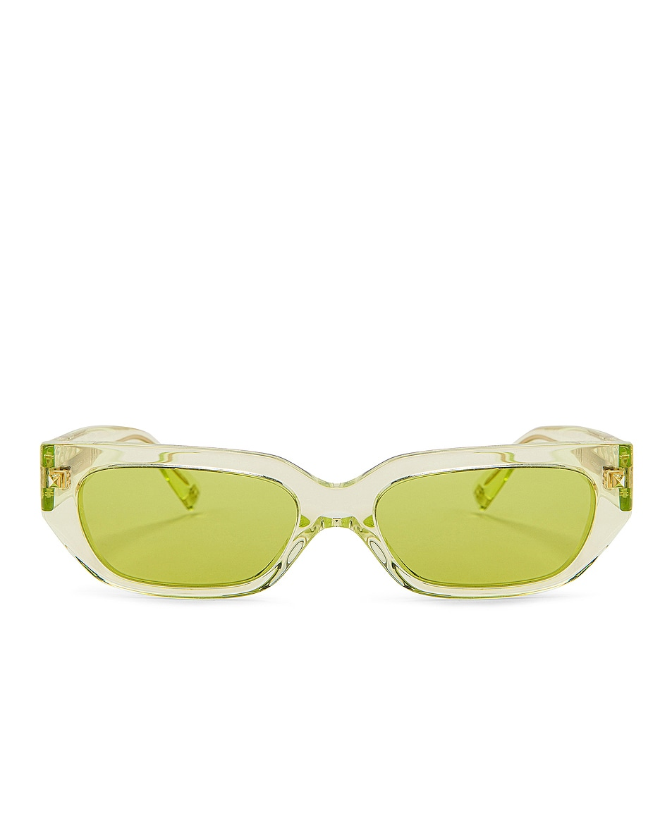 Image 1 of Valentino Garavani Acetate Sunglasses in Green Fluo