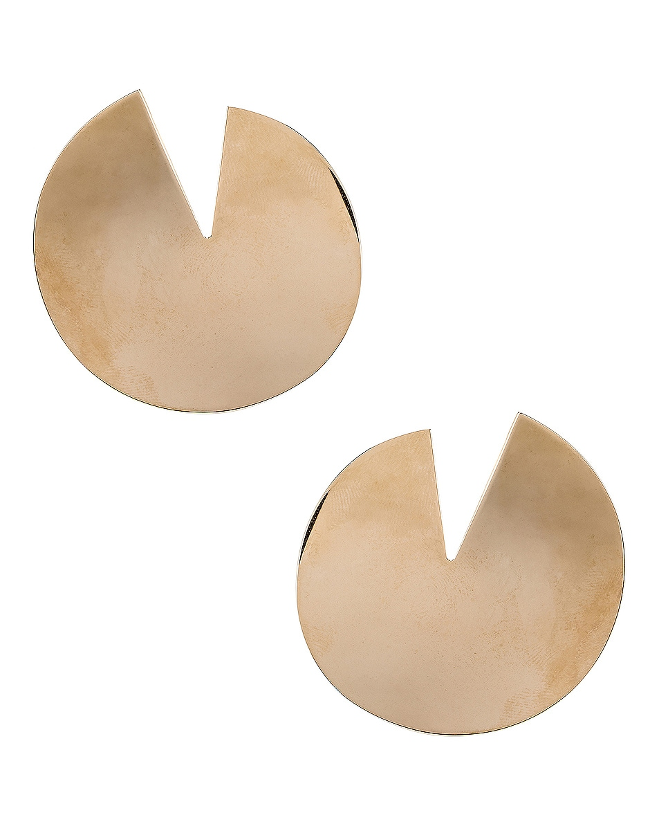 Image 1 of Valentino Logo Circle Earrings in Platinum