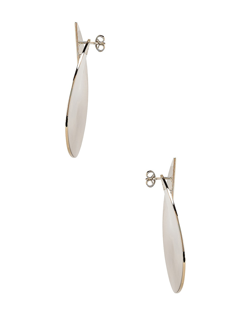 Image 3 of Valentino Logo Circle Earrings in Platinum
