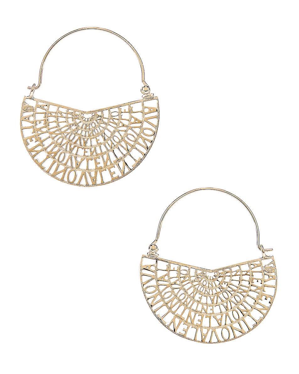 Image 3 of Valentino Logo Earrings in Platinum