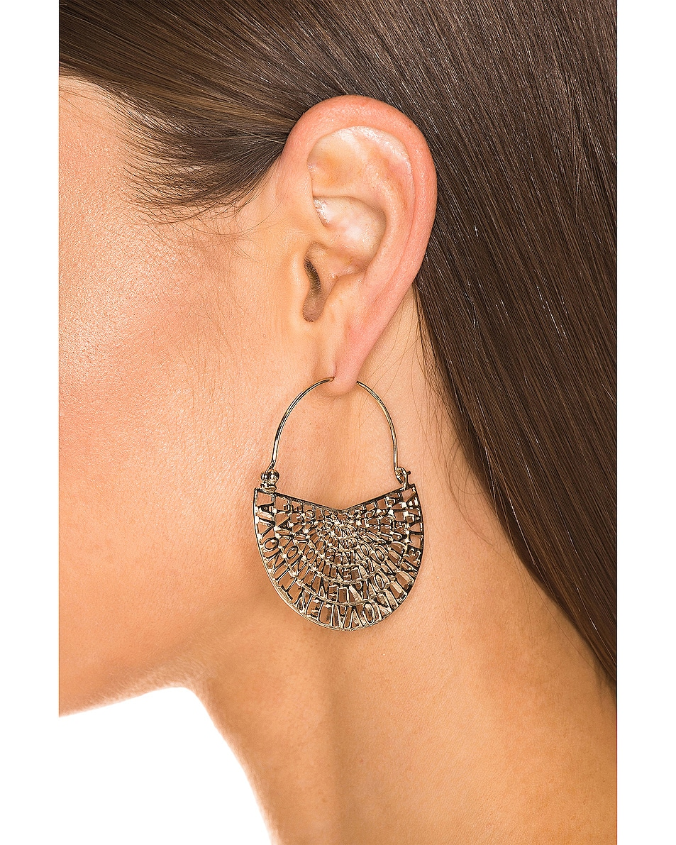 Image 4 of Valentino Logo Earrings in Platinum