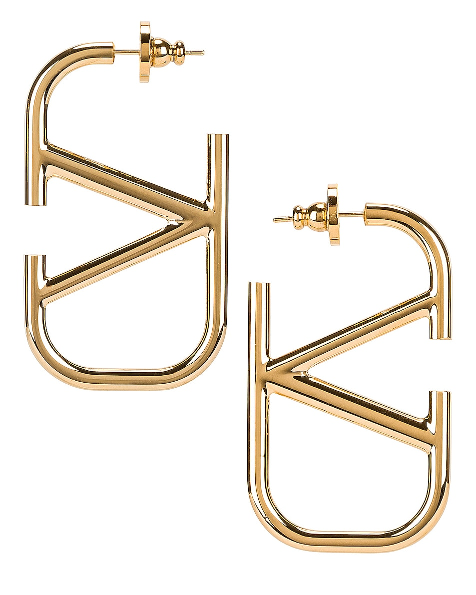 Image 1 of Valentino Valentino Garavani V Earrings in Gold