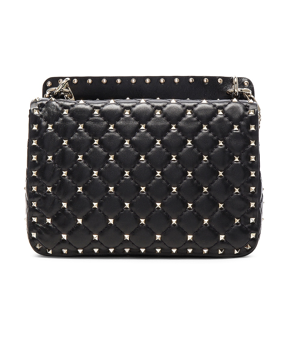 Image 3 of Valentino Medium Rockstud Shoulder Bag in Black