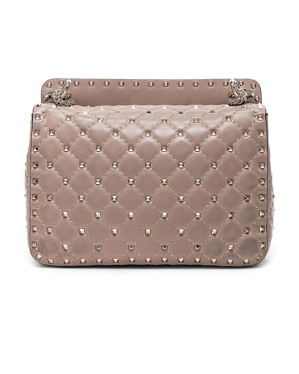 Image 3 of Valentino Medium Rockstud Spike Shoulder Bag in Poudre