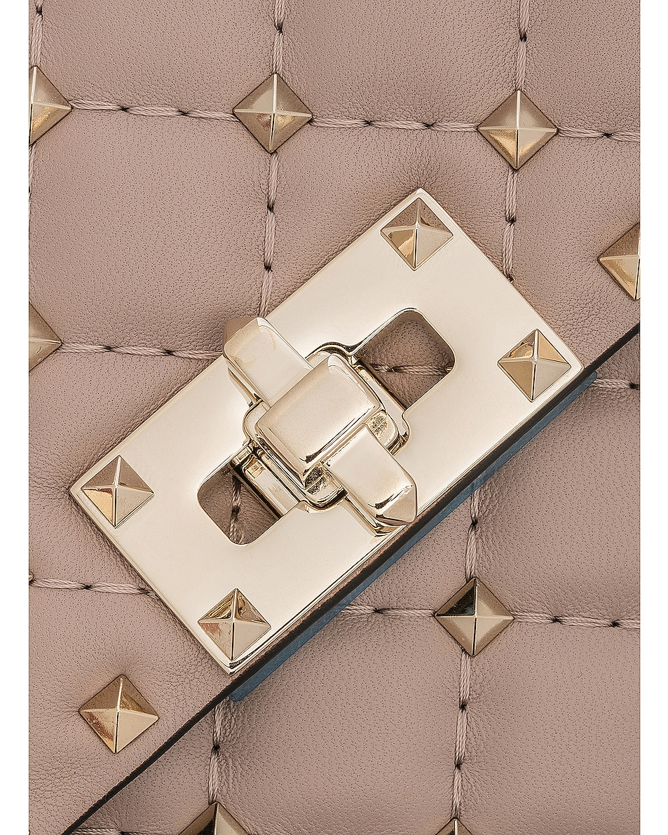 Image 8 of Valentino Medium Rockstud Spike Shoulder Bag in Poudre