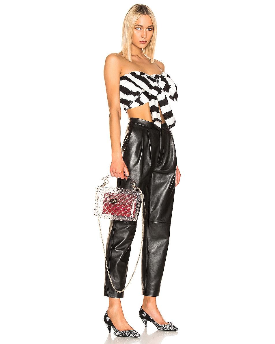 Image 2 of Valentino Medium Rockstud Spike PVC Shoulder Bag in Clear