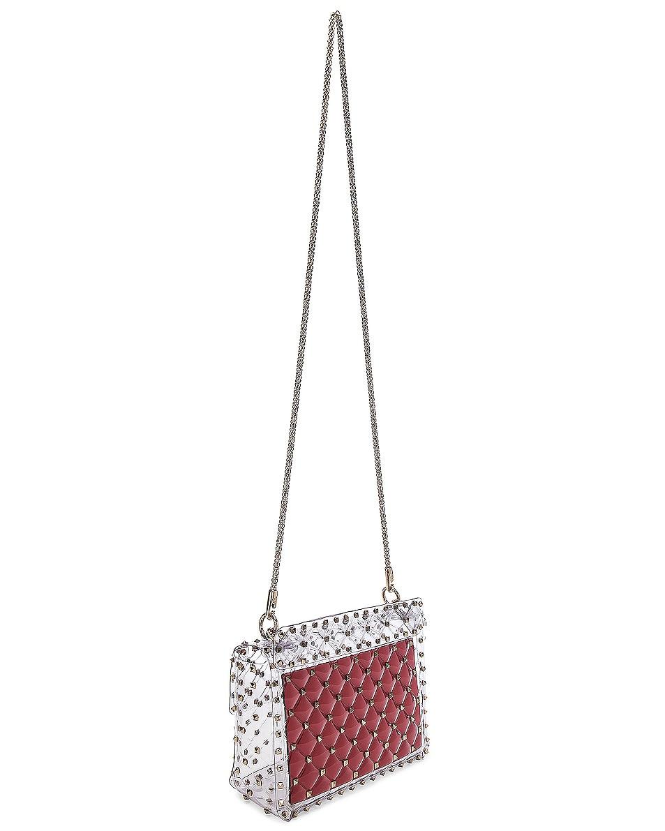 Image 6 of Valentino Medium Rockstud Spike PVC Shoulder Bag in Clear