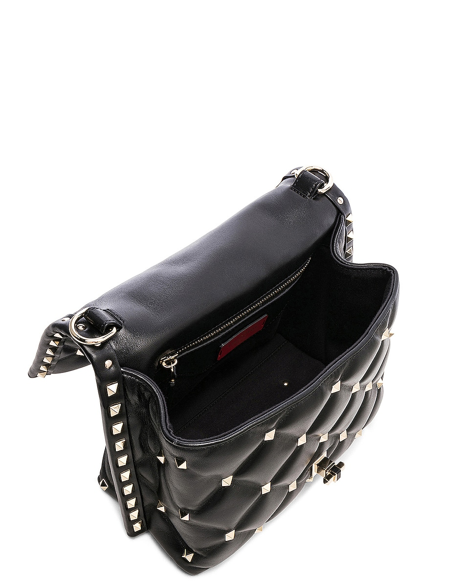 Image 5 of Valentino Candystud Top Handle Bag in Black