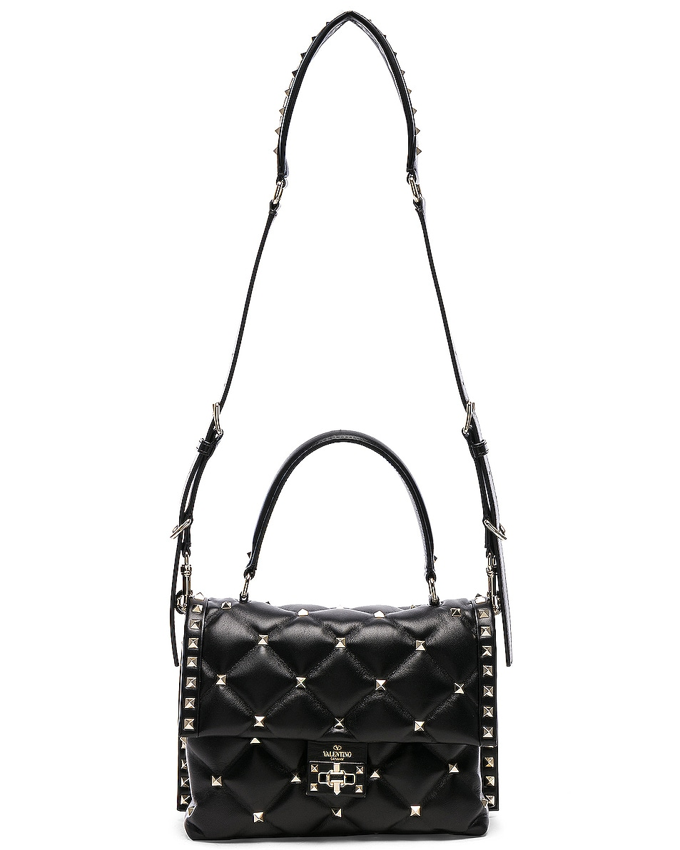 Image 6 of Valentino Candystud Top Handle Bag in Black