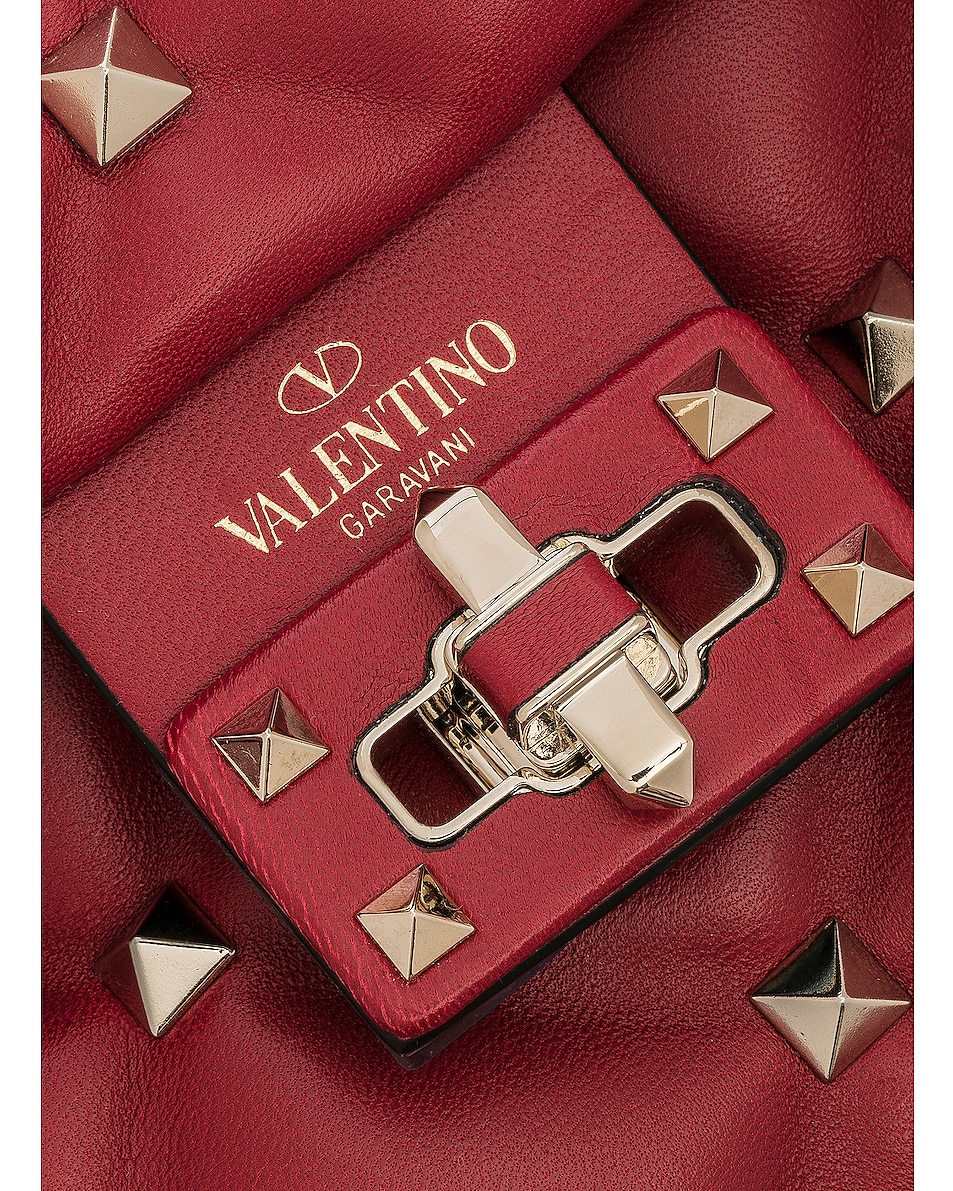 Image 8 of Valentino Candystud Top Handle Bag in Red