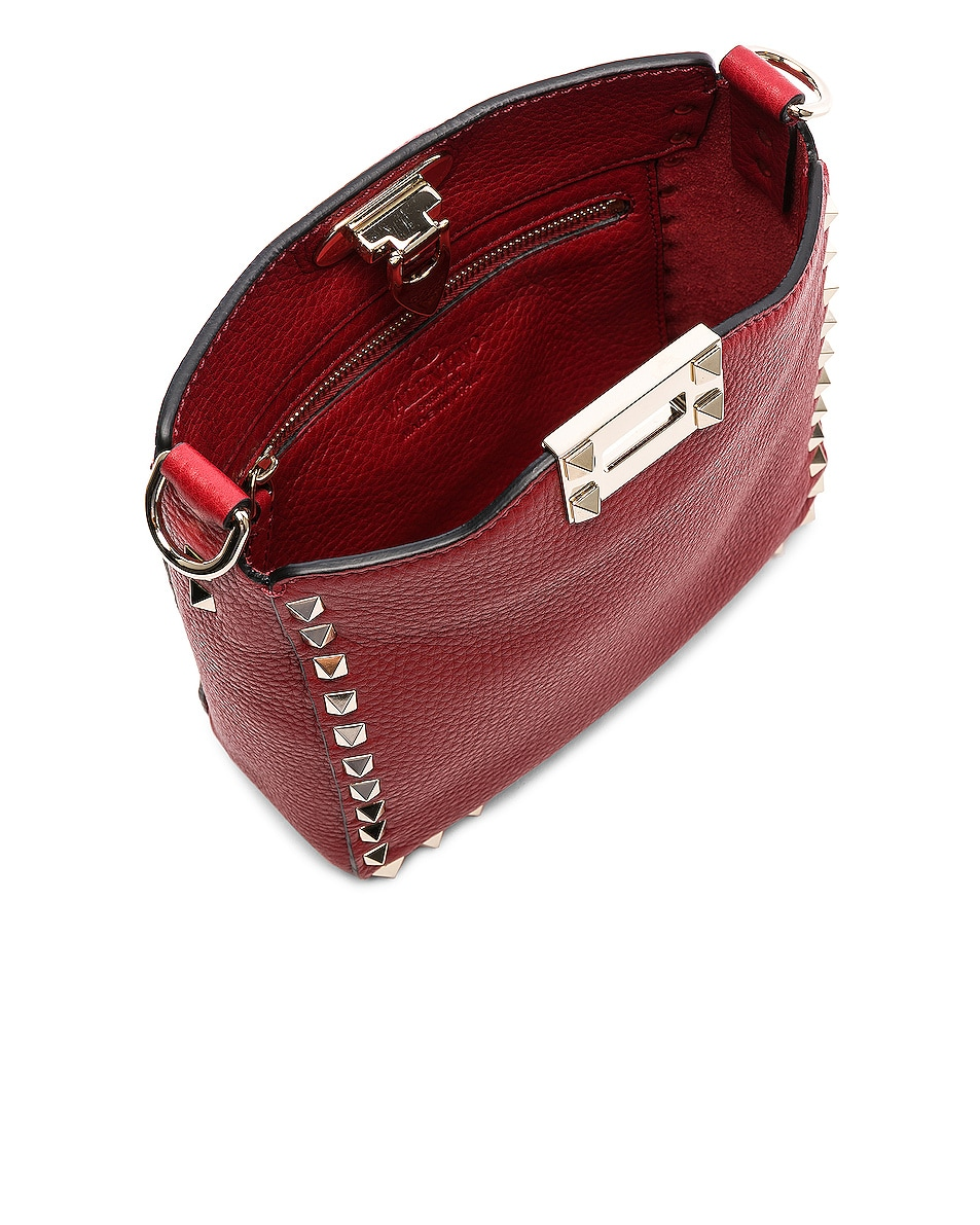 Image 5 of Valentino Mini Rockstud Hobo in Red