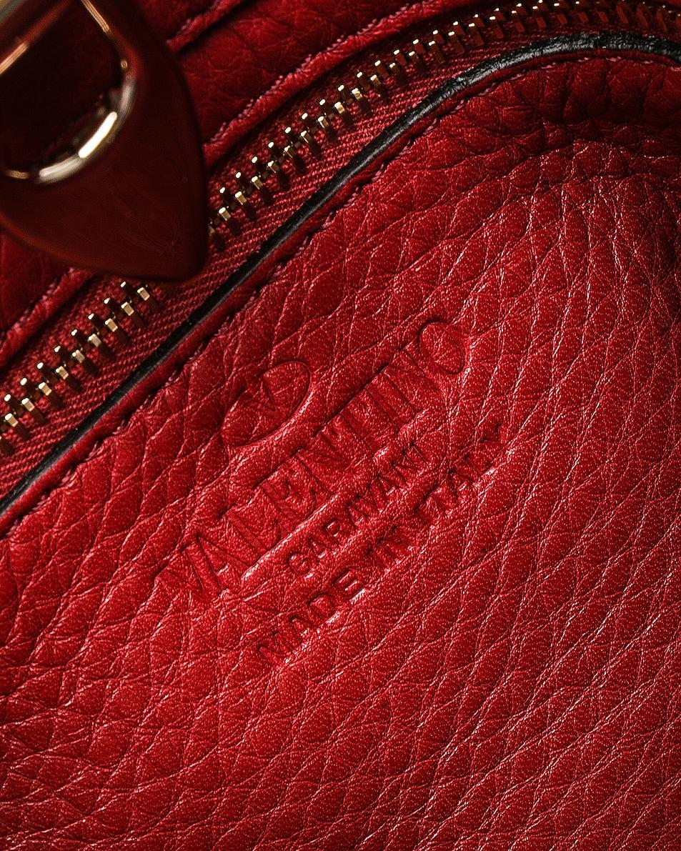 Image 7 of Valentino Mini Rockstud Hobo in Red