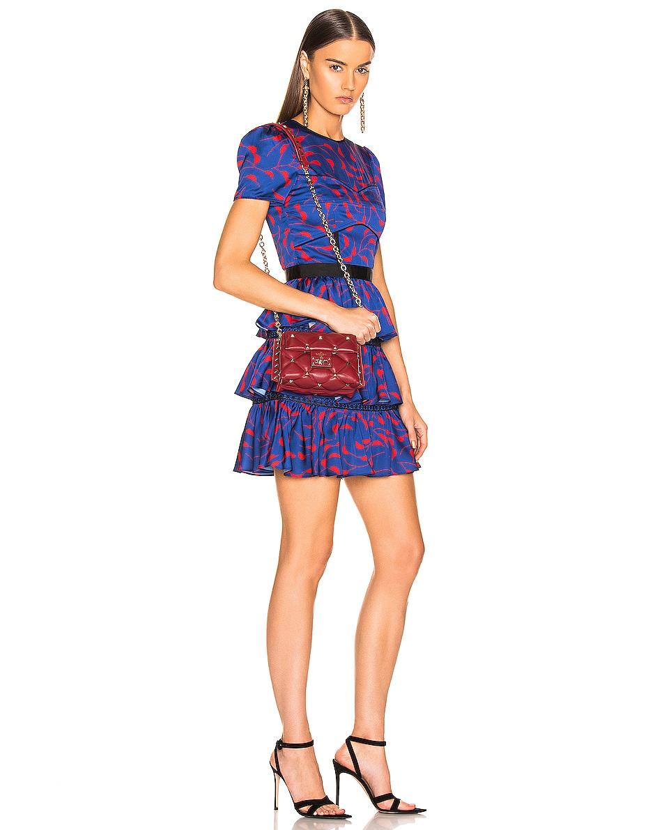 Image 2 of Valentino Mini Candystud Shoulder Bag in Red