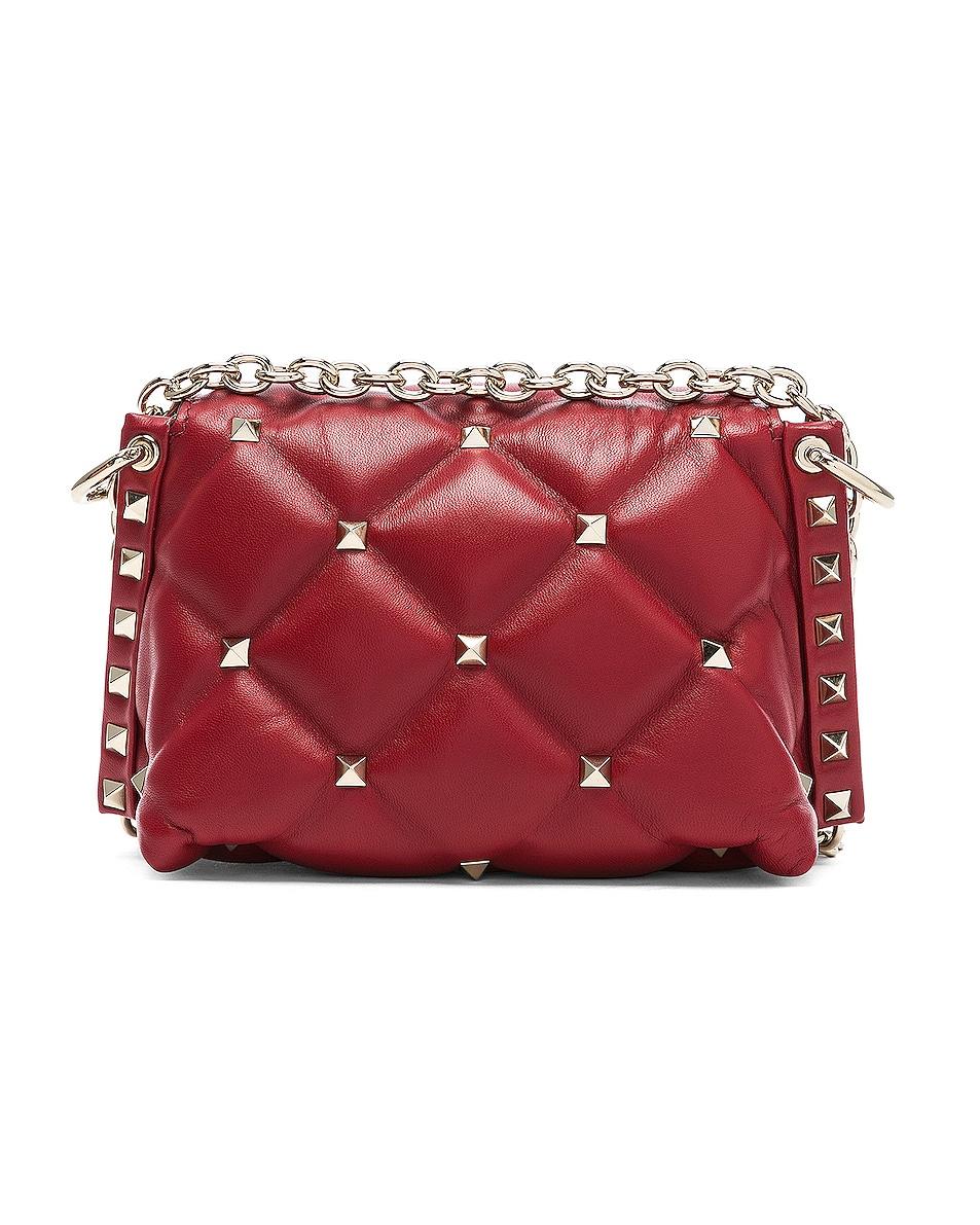 Image 3 of Valentino Mini Candystud Shoulder Bag in Red