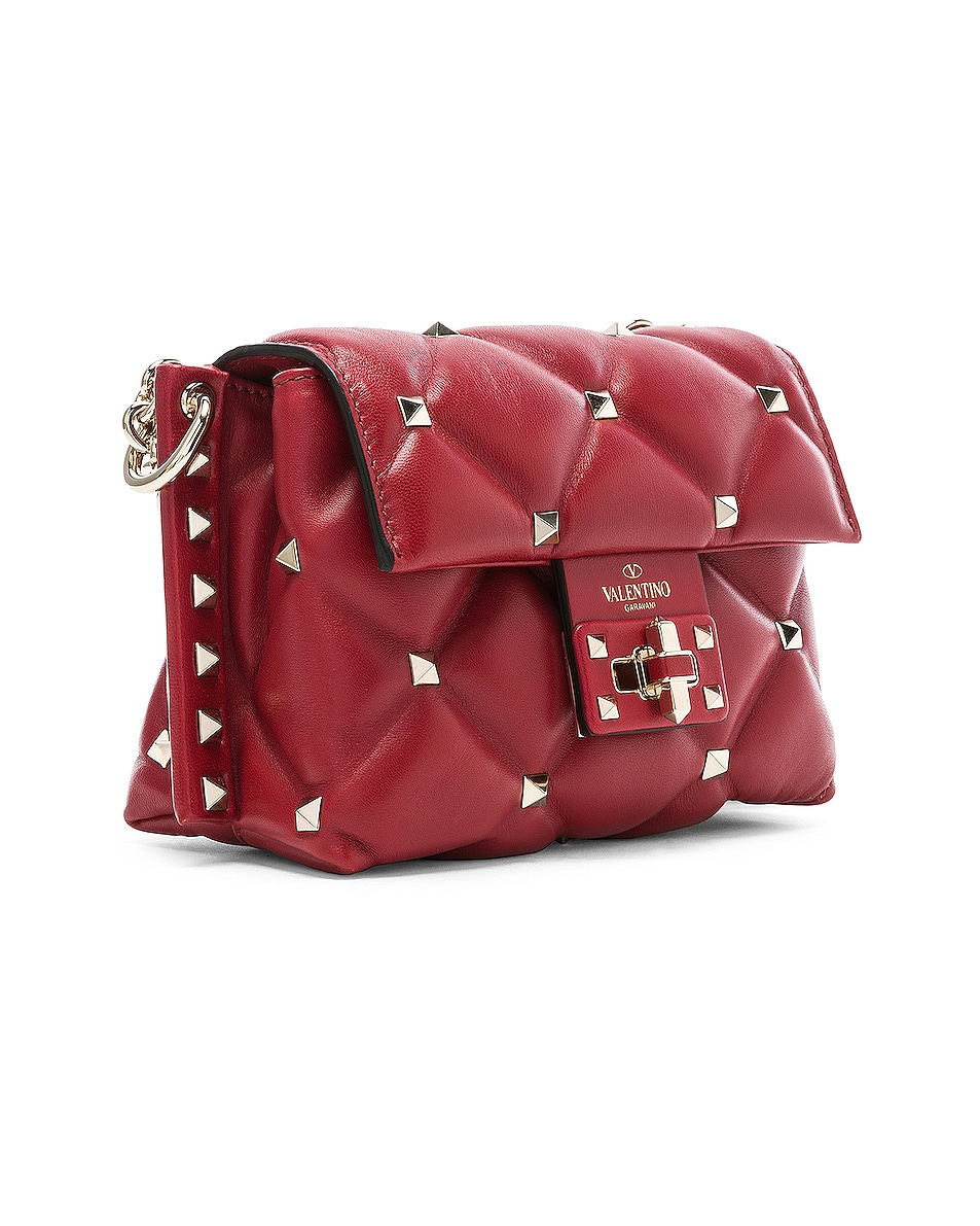 Image 4 of Valentino Mini Candystud Shoulder Bag in Red